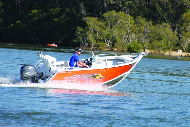 With a punch of the throttle the 70hp Yamaha four-stroke easily got the boat onto the plane.