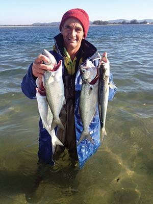 Mick Spann with part of his catch from South Stradbroke Island.