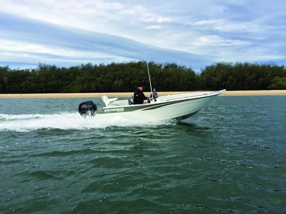 Planing speed is achieved quickly and the Mercury 115hp Pro XS FourStroke feels like a perfect match to the hull.