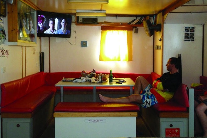 This is a good area in which to kick back and watch a few movies on the way out and back or at any point during your trip.