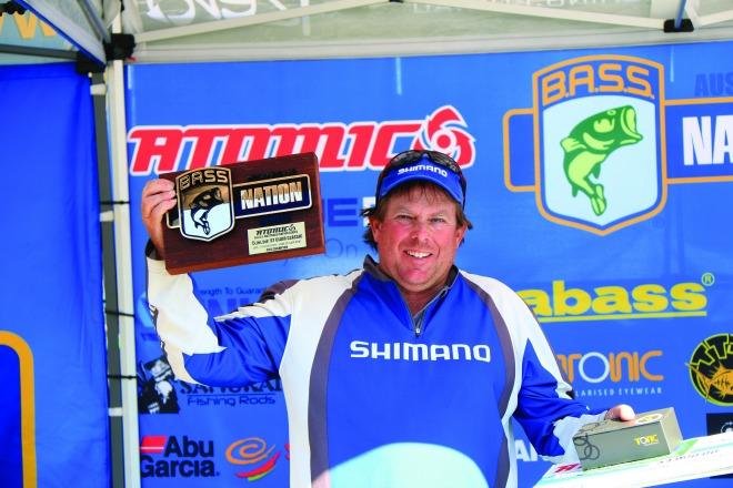 Alan McNamara holding the elusive trophy.