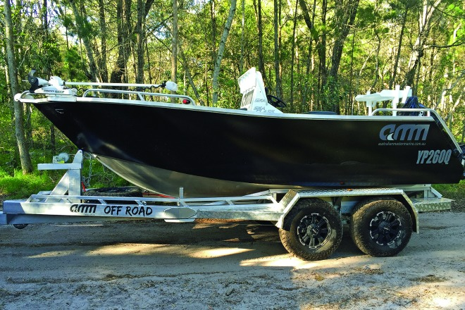 Off-road but not off-limits. AMM's ultra-tough trailer for boats that have to cross the dirt before getting to the water.