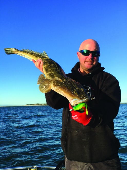 The author scored this 79cm lizard while fishing the deep water near the Pin Bar.