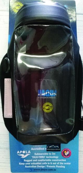 Waterproof phone case.