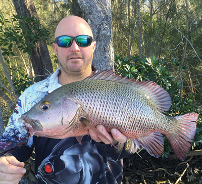 This cracker Noosa jack was hooked by the author on a Prawnstar.