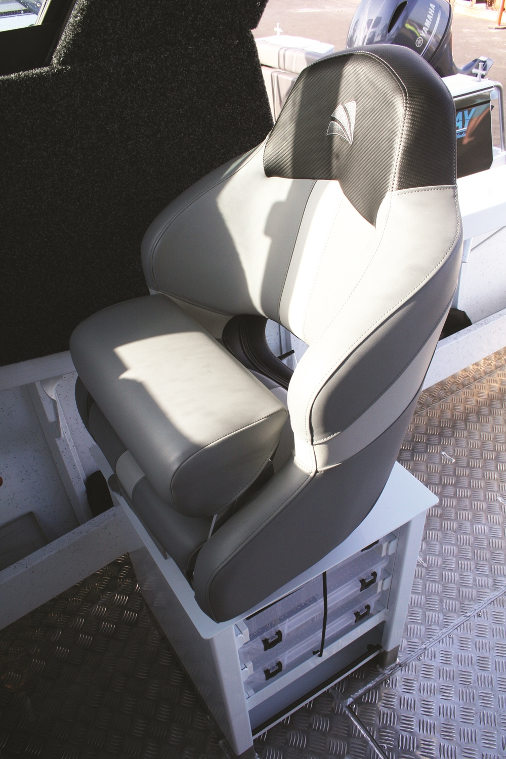 Quite possibly the comfiest seat on the water, with the added bonus of in-built Plano tackle storage.