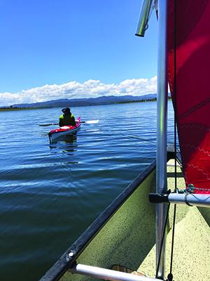 canoe sailing