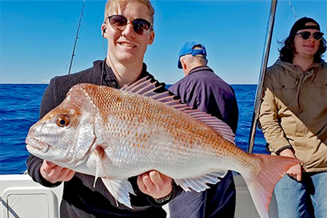 warm days fish snapper noosa