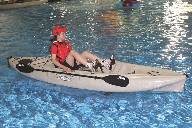 Perusing pedal-powered Hobie kayaks
