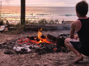 Sunset Moreton Island Fire