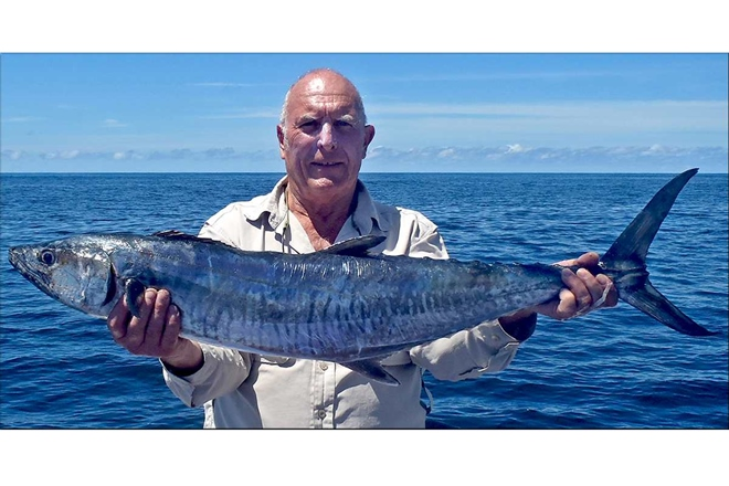 Richard Beeson with a medium sized spanish mackerel